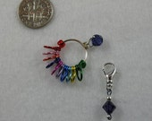 Snag Free Colorful Rainbow Row Counter Stitch Markers - Counts Up To 110 Rows - Select Your Own Color - Size US 5 - Item No. 940