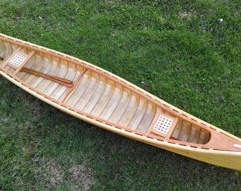 Wooden canoe wall display/ fishing