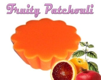 4 Fruity Patchouli Wax Tart Wickless Candle Melts Earthy Fruit Blend Scent