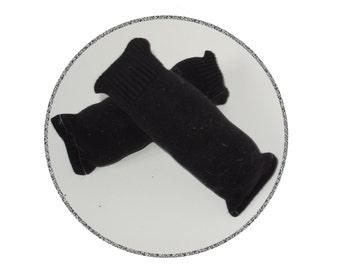 Black Knit Sweater Catnip Cat Toy - Kick Stick - Upcycled Recycled