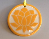 Small Ornament with Orange Lotus Carving