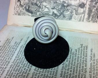 Unusual antique vintage plastic button ring