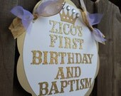 Little Prince Royal door sign in gold white and glitter gold