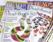 Bead and Button Magazine  Back Issues- 11 issues 2002-2004, 2006-2008 - Jewelry, Beading Patterns, Tutorials