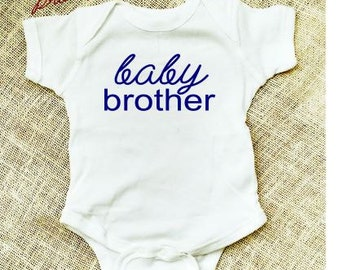 Baby Brother bodysuit Little Brother Shirt Boys Shirt New Brother shirt