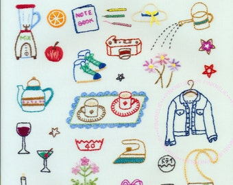 105 Basic Small Cute Embroidery  -  Japanese Craft Book