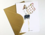 Fashion Girl Holiday Card