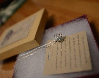 Silver Cage Necklace with Blue Apatite Stone   - SALE 10% Off