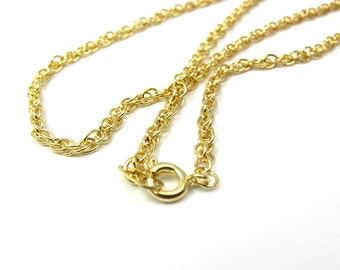 Vintage Gold Plated Rope Chain Necklaces (4X) (20 inches) (C574)