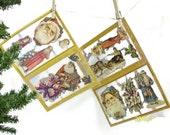 Two Sheets Victorian Santa Die Cuts | Santa Face and Figure Die Cuts