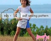 Faux Wrap Skort - INSTANT download - pdf sewing pattern - nb through 14 + doll