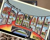 Vintage Large Letter Postcard Save the Date (Spokane, WA) - Design Fee