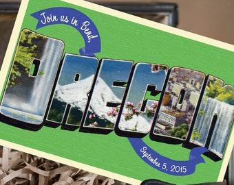 Vintage Large Letter Postcard Save the Date (Oregon) - Design Fee