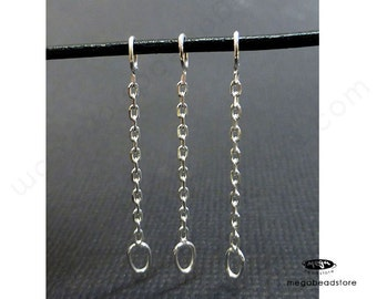 """20 pcs 1"""" 925 Sterling Silver Cable Chain Connectors F442"""