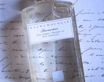 Damask Rosewater Organic Hydrosol in a Vintage Bottle