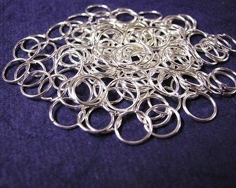 100pc 10mm gauge 16 silver finish jump rings-1410