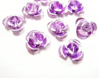 50pc 8mm aluminum flower beads-2351B