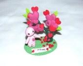 Valentine day 14 February OOAK Handcrafted Original Art Sculpture Fantasy Miniature Creation Design