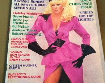 Vintage Playboy Magazine December 1984 Suzanne Somers Hugh Hefner