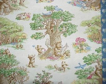 Vintage Waverly Bear Necessities Cotton Fabric