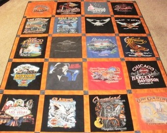 Harley t-shirt quilts custom made