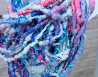 Handspun Art Yarn- Frozen- Signature Jazztutle TextureSpun Artisan Yarn
