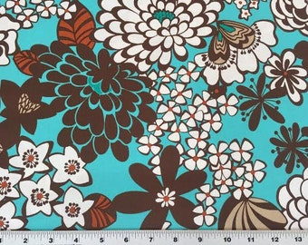 20% Off! Alexander Henry FABRIC - Flower Garden - Satchi - Turquoise