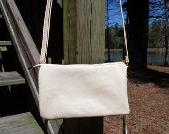Ivory Crossbody, Shoulder bag, Wristlet or Clutch
