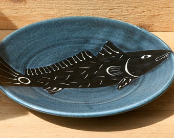 Redfish Plate 10 inches in midnight blue