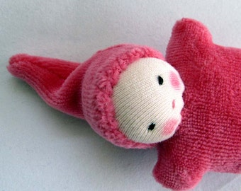 berry Baby, Waldorf  Doll, germandolls, pocket pal, Waldorf toy, small doll, gift for kids, Waldorf valentines