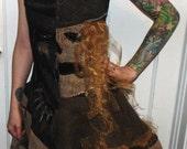"Scarecrow dress # 2 "" asymmetric """
