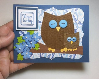 Baby Boy Congratulations Card, New Baby Card, Welcome Baby, Greeting Card for Baby