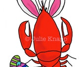 Crawfish Easter Bunny Cards, 100 qty A2 cards with envelopes