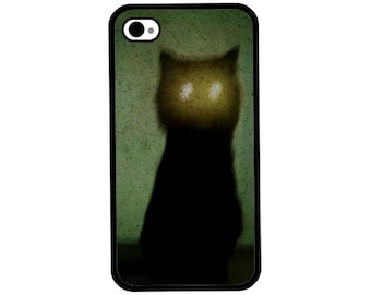 Phone Case - The Haunted Cat - Hard Case for iPhone 4, 4s, 5, 5s, 5c, SE, 6, 6 Plus, 7, 7 Plus - iPod Touch 4, 5/6 - Galaxy