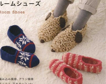 Warm Crochet Lovely Room Shoes - Japanese Craft Book