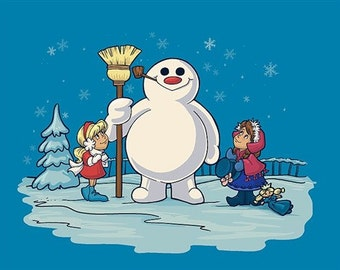 Let's Build A Snowman Small Print (Item 03-064-AA)