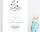 Anchor Wedding Invitation - Beach Theme Wedding Invitation