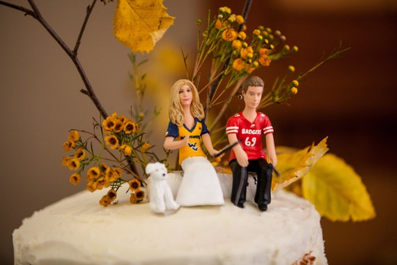 Fishing Couple Wedding Cake Topper By CreateYourTopper On Etsy