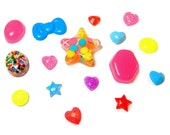 Handmade Resin Cabochons, Neon Kawaii Flat Back Deco Decoden Supplies