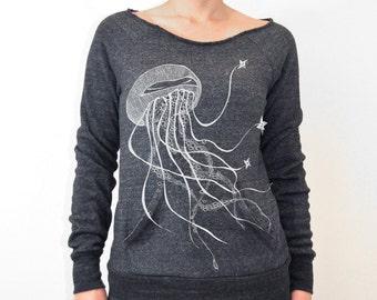 Ninja Jellyfish maniac off the shoulder sweatshirt