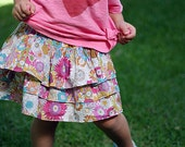 Ruffle-icious Skirt INSTANT DOWNLOAD PDF Sewing Pattern for Girls Sizes 1-2, 3-4, 5-6 and 7-8