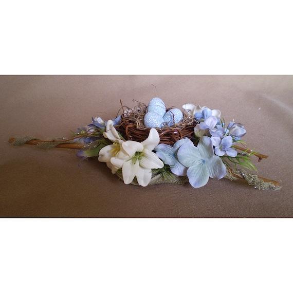 faerie eggs birds nest floral arrangement Spring flower centerpiece ...