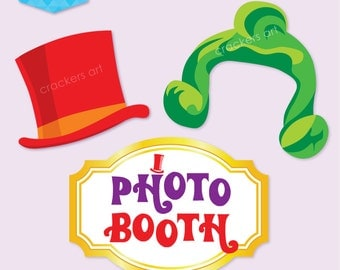 Instant Download - WONKA Inspired Party Photo Booth Props - DIY Printable