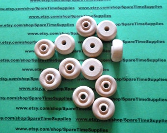 "TW1005WW12 Mini Toy Wheels - 1"" diameter x 1/2"" thick, 1/4"" hole - unfinished wheel - 12 pcs"