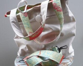 Natural Canvas Color Messenger Bag - Road Trip Bag - Extra Large Messenger Bag