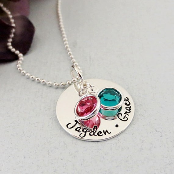 mommy necklace personalized mom necklace kids name