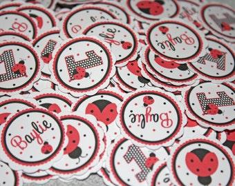 LADYBUG Classic Table Confetti / Ladybug Confetti / Ladybug Table Minis / Ladybug Red Confetti / Ladybug Party Circles / Sweet Ladybug