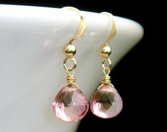 Mystic Pink Topaz Earrings