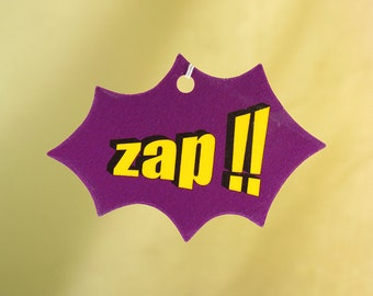 Comic Book Explosion Air Freshener, ZAP!!