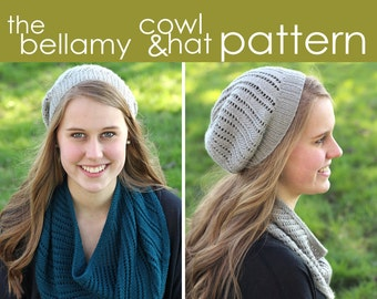 The Bellamy Cowl and Hat PDF PATTERN - 2 cowl & 3 hat sizes